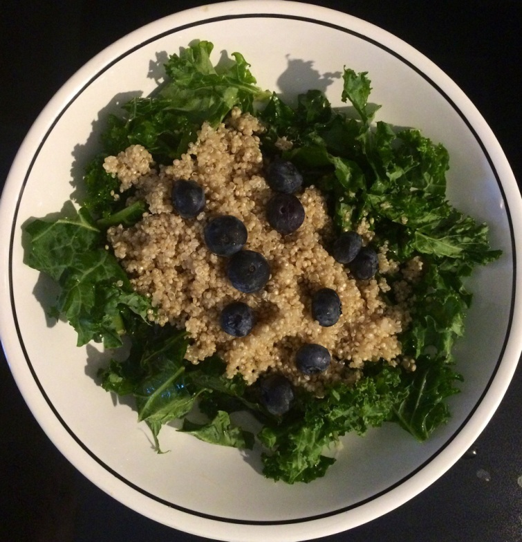 kale and quinoa