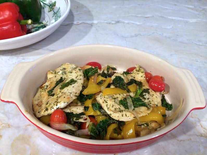 chicken with kale