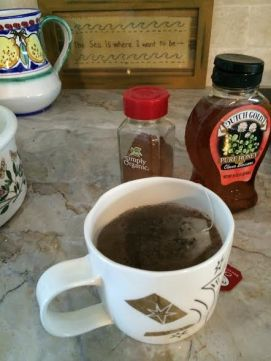 Chai tea with honey and cinnamon