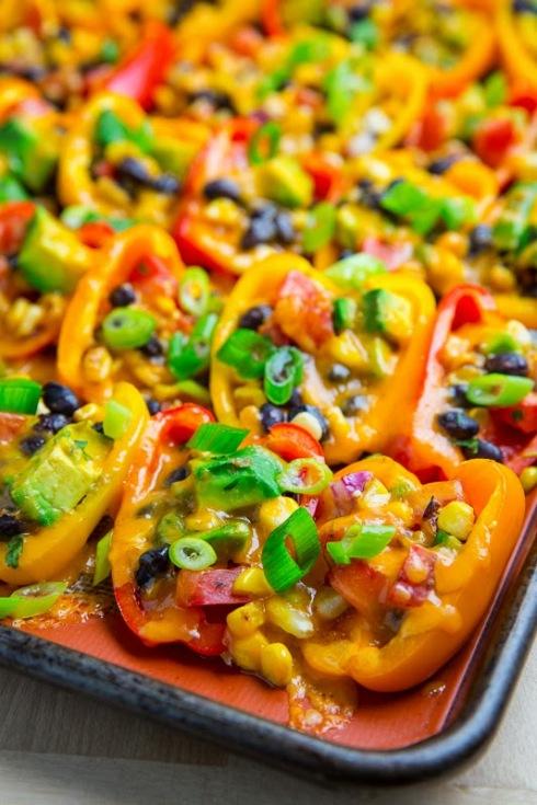 Mini Pepper Nachos with Avocado, Corn and Black Beans 800 1782