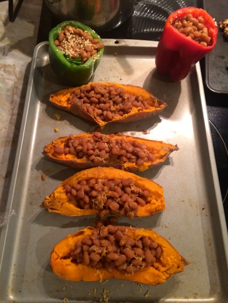 Deliciously Stuffed Sweet Potatoes