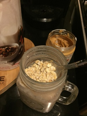 almond butter overnight oats