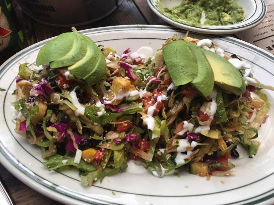 salad and guac
