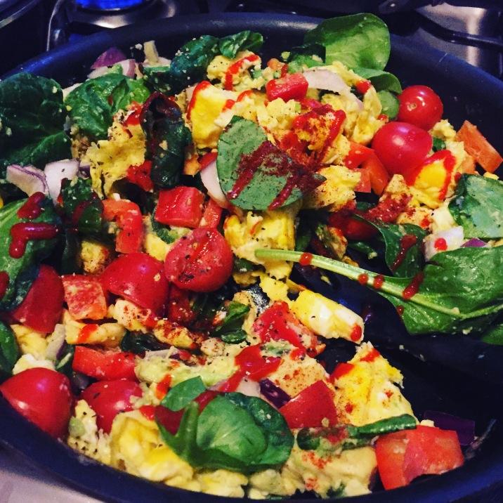 eggs w/ veggies