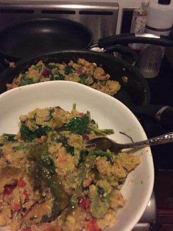 brown rice & veggies